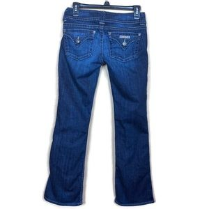 HUDSON Bootcut Dark Wash Triangle Flap Size 28